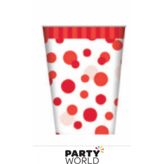Red Spot Paper Cups (8)