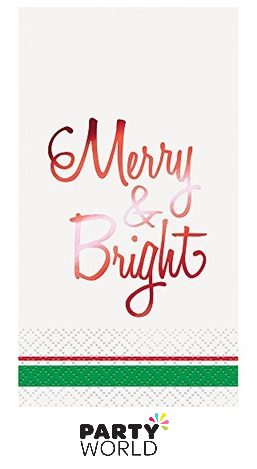 merry bright napkins