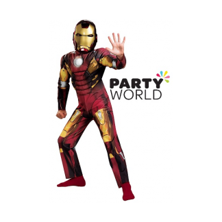 Iron Boy Kids Costume 110cm (age 7-9)