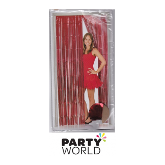 Red Foil Door Curtain 100 x 200cm