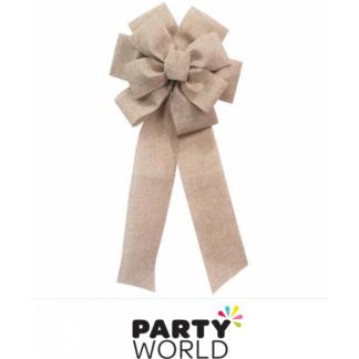 Hessian Vintage Bow 70cm