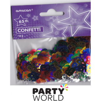 65th Assorted Colours Confetti With Stars