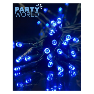 50 LED Timer Lights Blue