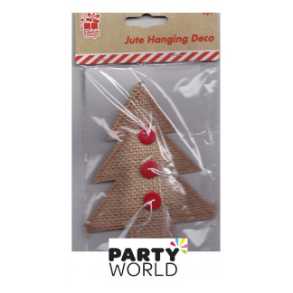 Jute Hanging Decor - Xmas Trees