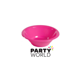 Pink Plastic Bowls 7in (25)