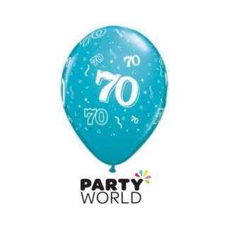 Blue 70th Balloons (5)