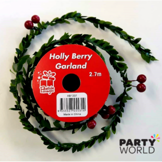 Holly Berry Garland (2.7m)