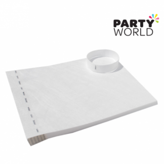White Disposable Tyvek Security Wristbands (10)