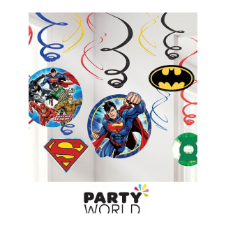 Justice League Hanging Swirl Decorations (12)