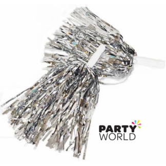 Cheer Leader Pom Pom Metallic Silver (2)