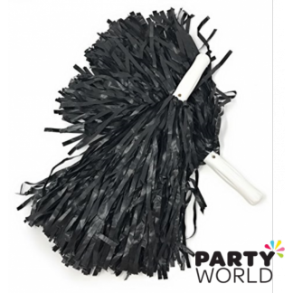 Cheer Leader Pom Pom Metallic Black (2)