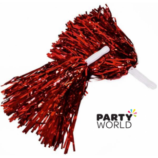 Cheer Leader Pom Pom Metallic Red (2)