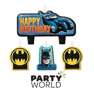Batman Happy Birthday Candle Set (4)