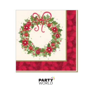 Merry Christmas Wreath Luncheon Napkins (20)