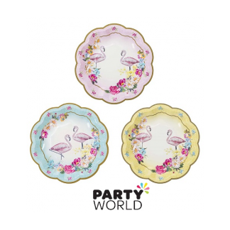 Truly Flamingo Paper Side Plates (12)