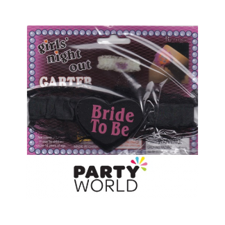 Bride To Be Garter - Black