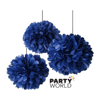 12in Puff Ball - Navy Blue