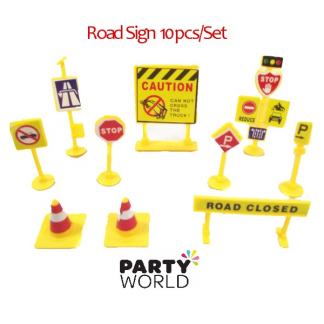 Construction Party Toy Road Signs (10)