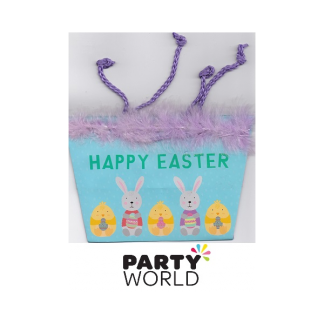 Happy Easter Basket - Purple Trim