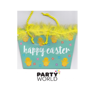 Happy Easter Basket - Yellow Trim