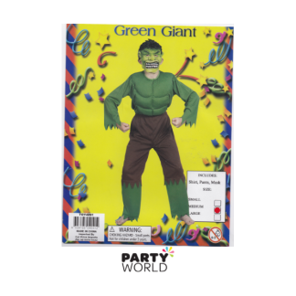 Green Giant Child Costume (Medium Age 10-12)