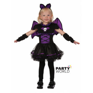 Girl's Toddler Bat Purple/Black Costume (height 80-92cm)
