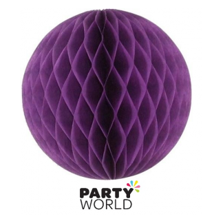 Honeycomb Lantern - Purple 35cm