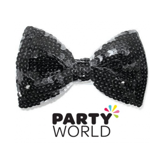 Black Sequins Bowtie