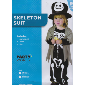 Skeleton Suit Toddler Costume (92-104cm)