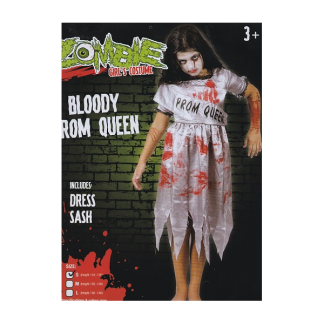 Girl's Costume - Bloody Prom Queen (110-120)