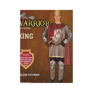 Mens Warrior King Costume (one size)