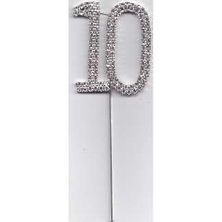 10th Diamante Cake Topper
