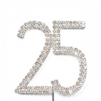 25th Diamante Cake Topper