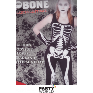 Skull Bone Ladies Costume (one size)