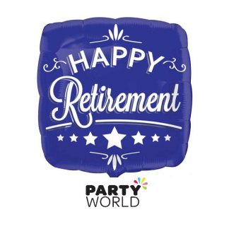 Happy Retirement Square Foil Balloon