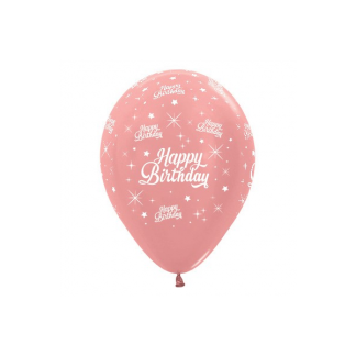 Sempertex Happy Birthday Rose Gold Balloons (6)