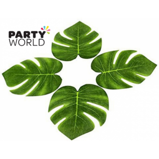 Vinyl Tropical Palm approx Leaves 20 x 18cm (12)