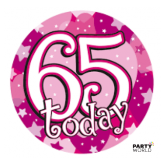 Badge 65th Pink