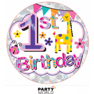 1st Birthday Girl Badge