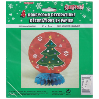 Christmas Tree Honeycomb Decorations (4)