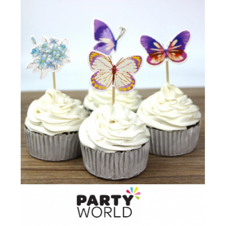 Butterfly Cupcake Picks (12)