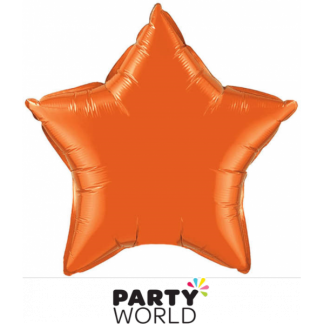 Orange (Bronze) Star Foil Balloon