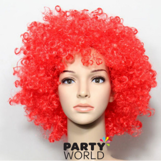 Red Afro Wig / Clown Wig