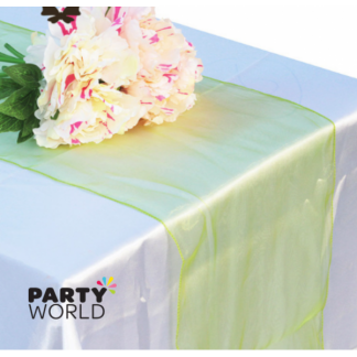 Apple Green Organza Table Runner / Chair Tie (17 x 270 cm)