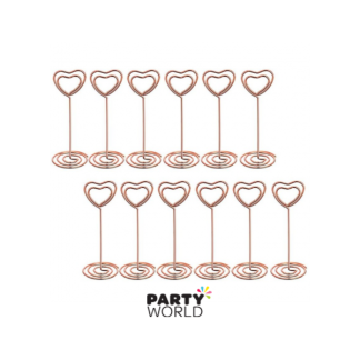 Heart Spiral Table Card Holder Rose Gold (6)