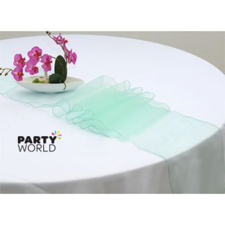 Mint Green Organza Table Runner / Chair Tie (17 x 270 cm)