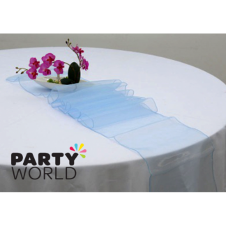 Blue Organza Table Runner / Chair Tie (17 x 270 cm)