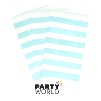 Pastel Blue Paper Treat Bags (15)