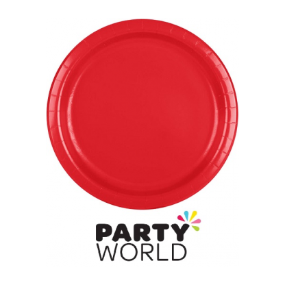 Classic Red 22cm Paper Plates (24)
