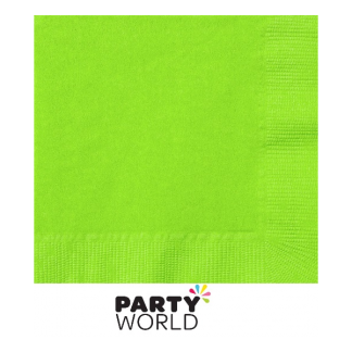 Citrus/Lime Green Beverage Napkins (20) (lime colour)